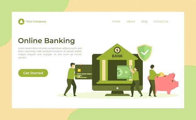 Page de destination des services bancaires en ligne
