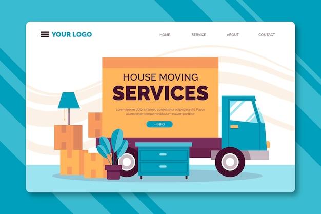 Page de destination des services de déménagement