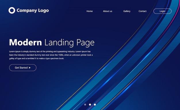 Page de destination de site web moderne