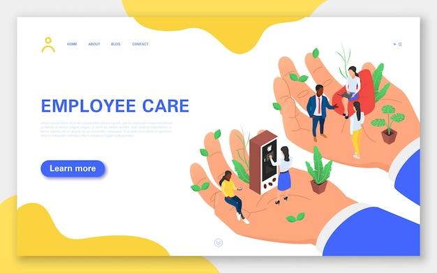Page de destination des soins aux employés