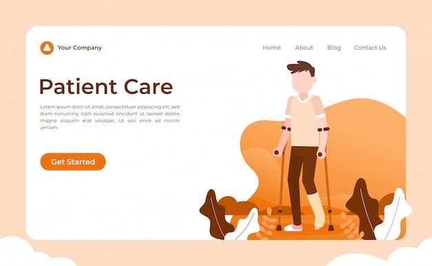 Page de destination des soins aux patients