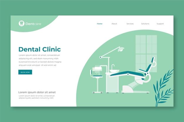 Page de destination des soins dentaires