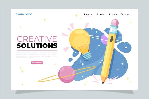 Page De Destination Des Solutions Créatives Vecteur gratuit
