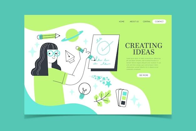 Page de destination des solutions créatives