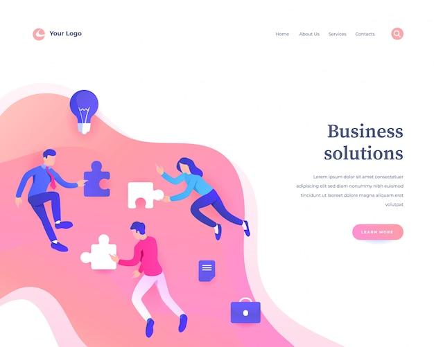 Page de destination des solutions d'entreprise