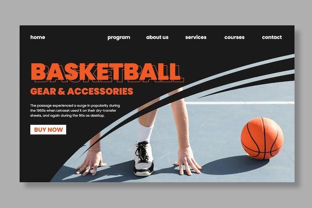 Page de destination sport et technologie