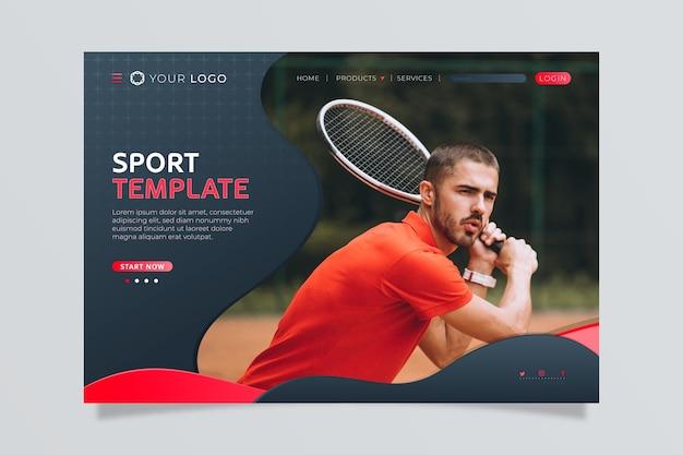 Page de destination sportive avec image