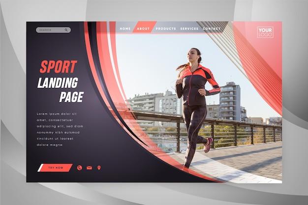 Page de destination sportive