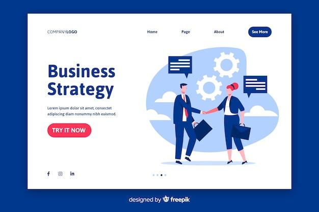 Page de destination de la stratégie commerciale