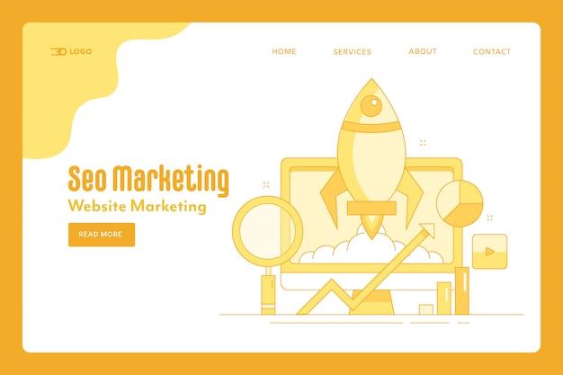 Page de destination de la stratégie marketing seo