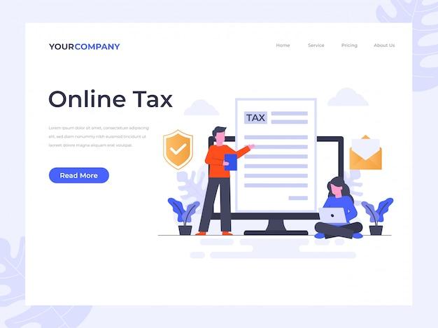 Page de destination des taxes en ligne