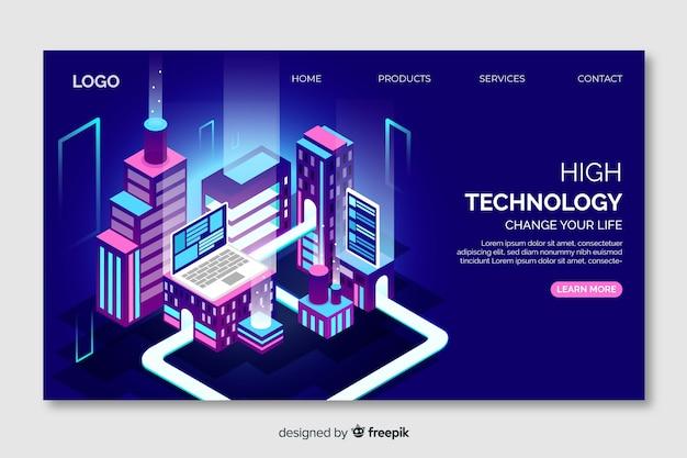 Page de destination de la technologie concept