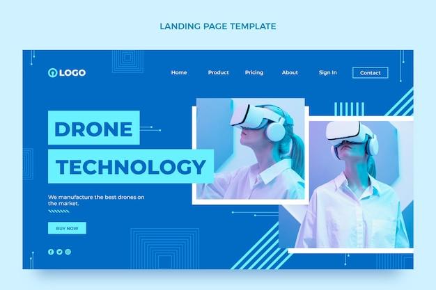 Page de destination de la technologie de conception plate