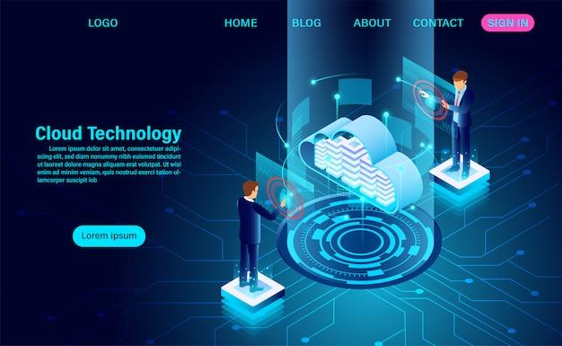 Page de destination de la technologie des données