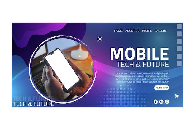 Page de destination de la technologie mobile
