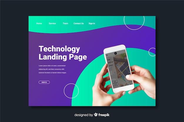Page de destination de la technologie téléphonique