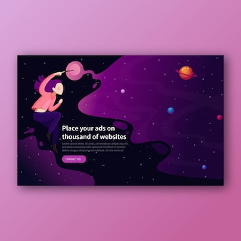 Page de destination de l'en-tête creative magic designer