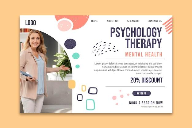 Page de destination de la thérapie psychologique