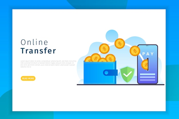 Page de destination de transfert en ligne