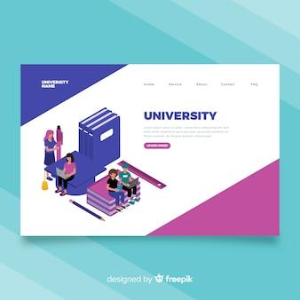 Page de destination de l'université