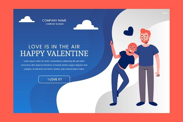 Page de destination valentines