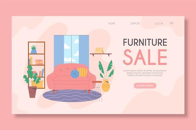 Page de destination de la vente de meubles