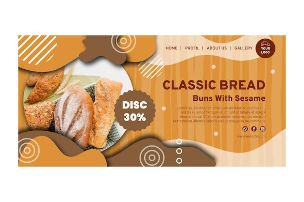 Page de destination de la vente de pain