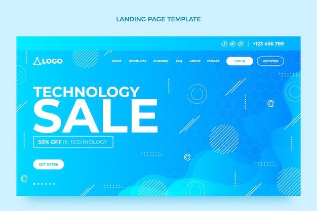 Page de destination de la vente de la technologie des fluides à gradient
