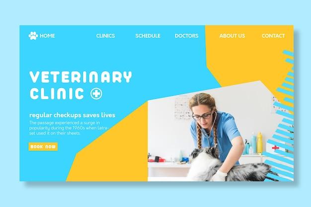 Page de destination vétérinaire