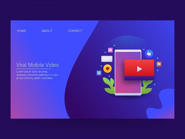Page de destination vidéo mobile