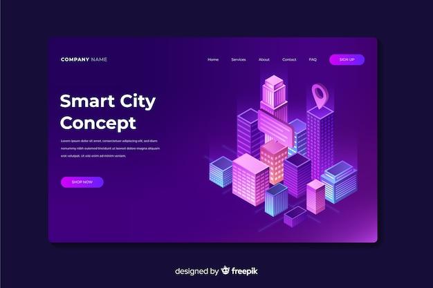 Page de destination de la ville intelligente