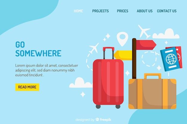 Page de destination de voyage
