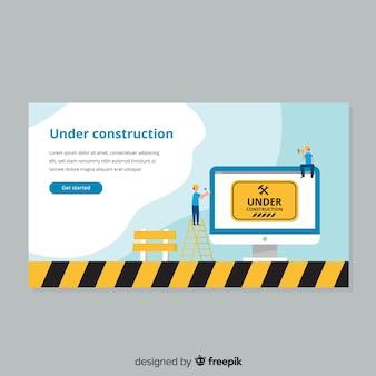 Page de destination web en construction