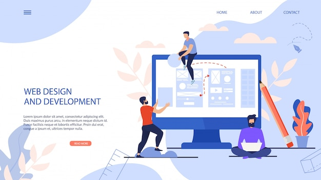 Page de destination web design and development