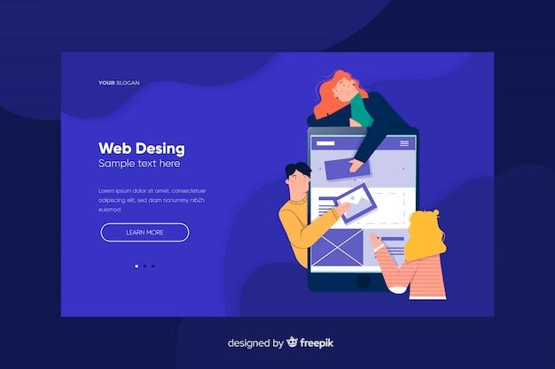 Page de destination web design