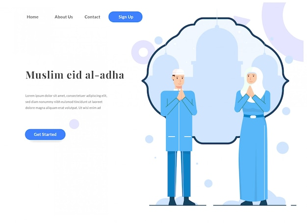 Page de destination web eid adha