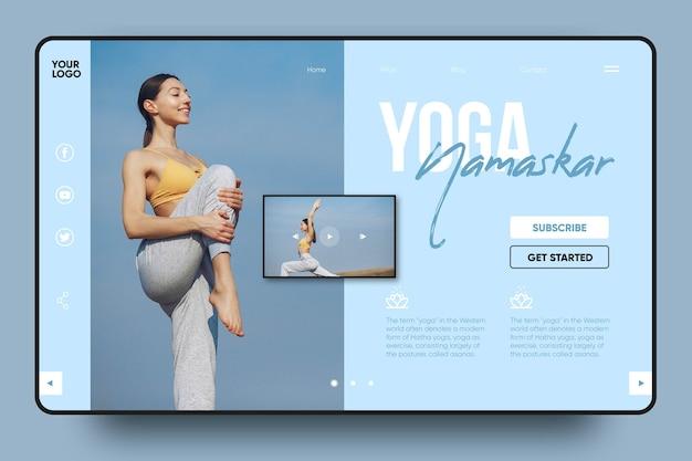 Page de destination de yoga namaskar