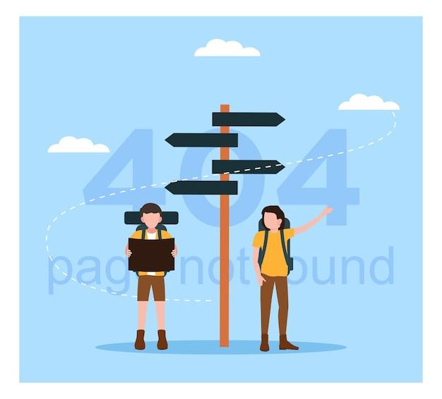 Page d'erreur 404 créative au design plat