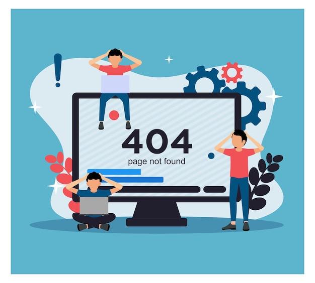 Page d'erreur 404 introuvable pour le concept de site web modèle
