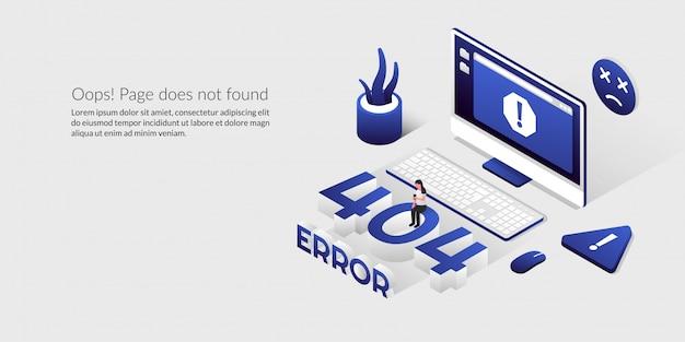 Page d'erreur non trouvée, problème de perte de connexion isométrique