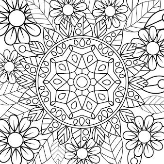 Page florale de mandala