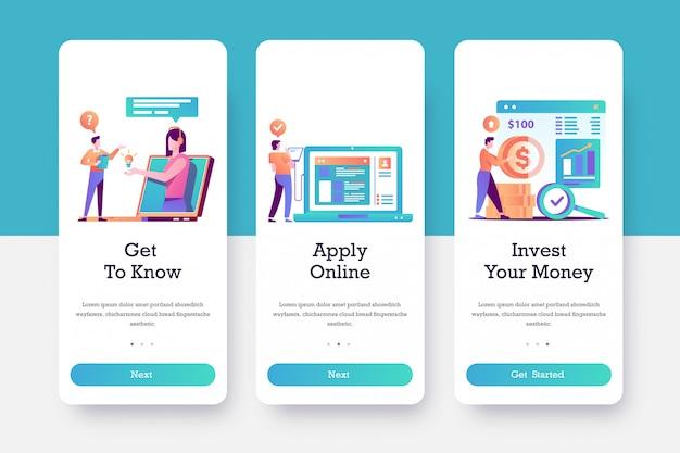 Page d'intégration des applications mobiles