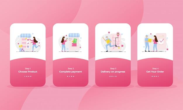 Page d'intégration de la boutique en ligne pour téléphone portable