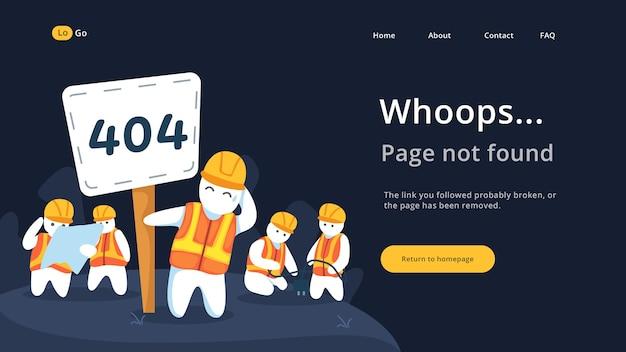 Page introuvable page pour la page web de destination
