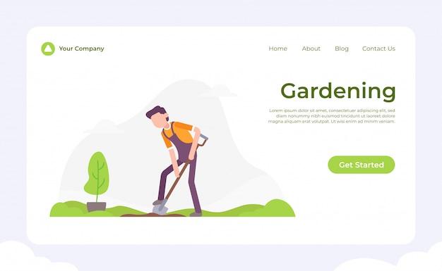 Page de jardinage