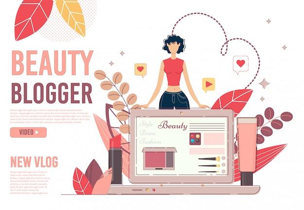 Page de lansing du blog de beauté