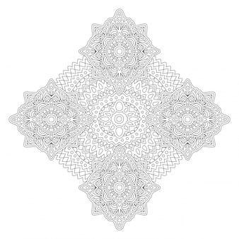 Page de livre de coloriage adulte avec motif abstrait