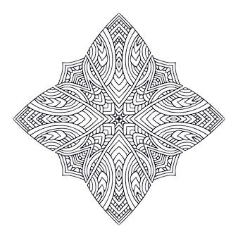 Page de livre de coloriage impression de mandala intérieur