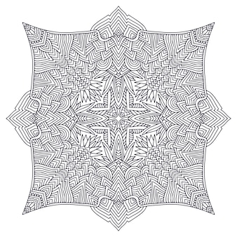 Page de livre de coloriage mandala ornemental