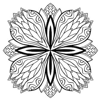 Page de livre de coloriage de mandala ornemental